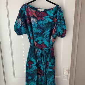 Loft Tropical Midi Dress